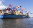 Containerhaven Hamburg. MSC Fortunate uit Panama